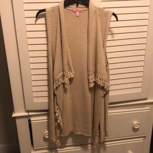 Lilly Pulitzer gold vest size medium